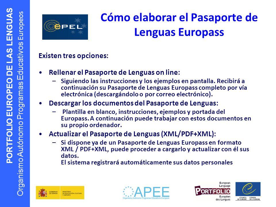 Cómo elaborar el Pasaporte de Lenguas Europass