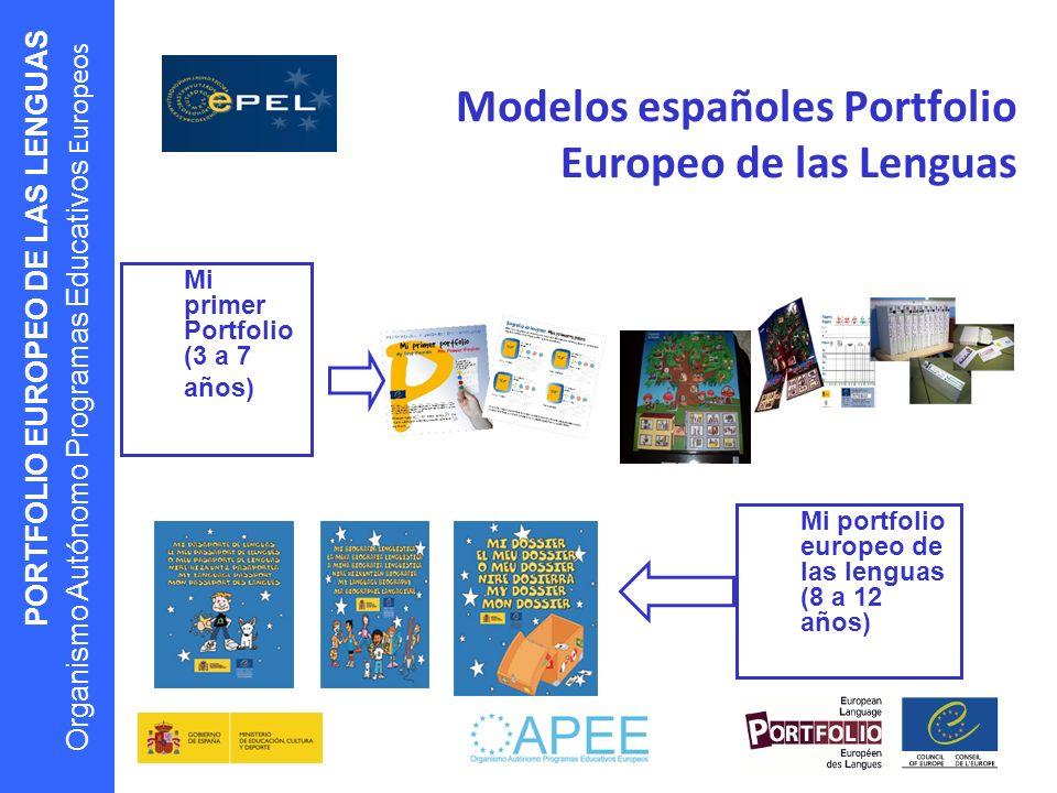 Modelos españoles Portfolio Europeo de las Lenguas