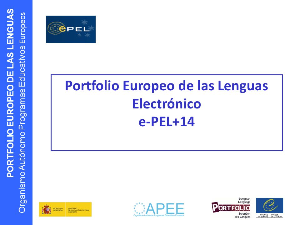 Portfolio Europeo de las Lenguas Electrónico e-PEL+14