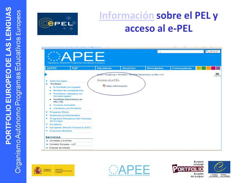 Información sobre el PEL y acceso al e-PEL