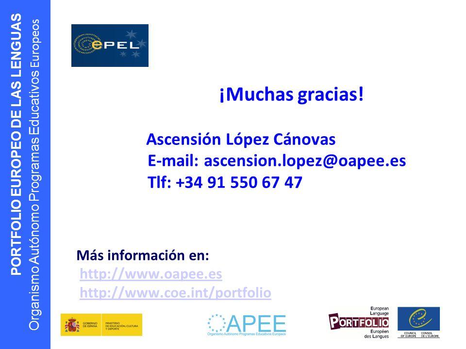 ¡Muchas gracias! Ascensión López Cánovas