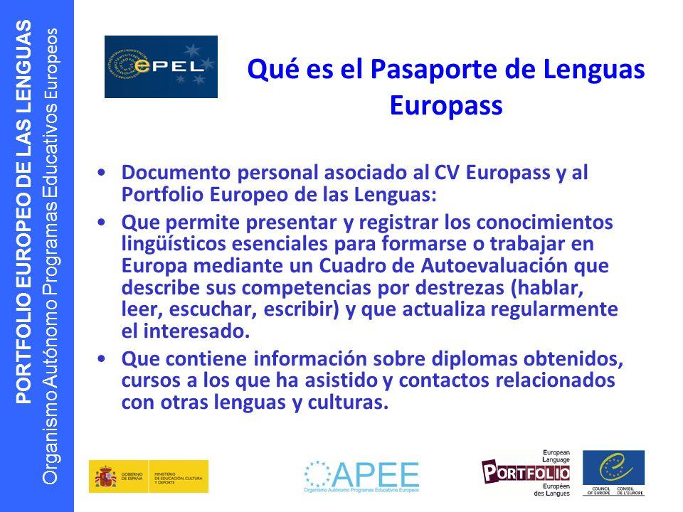 Qué es el Pasaporte de Lenguas Europass