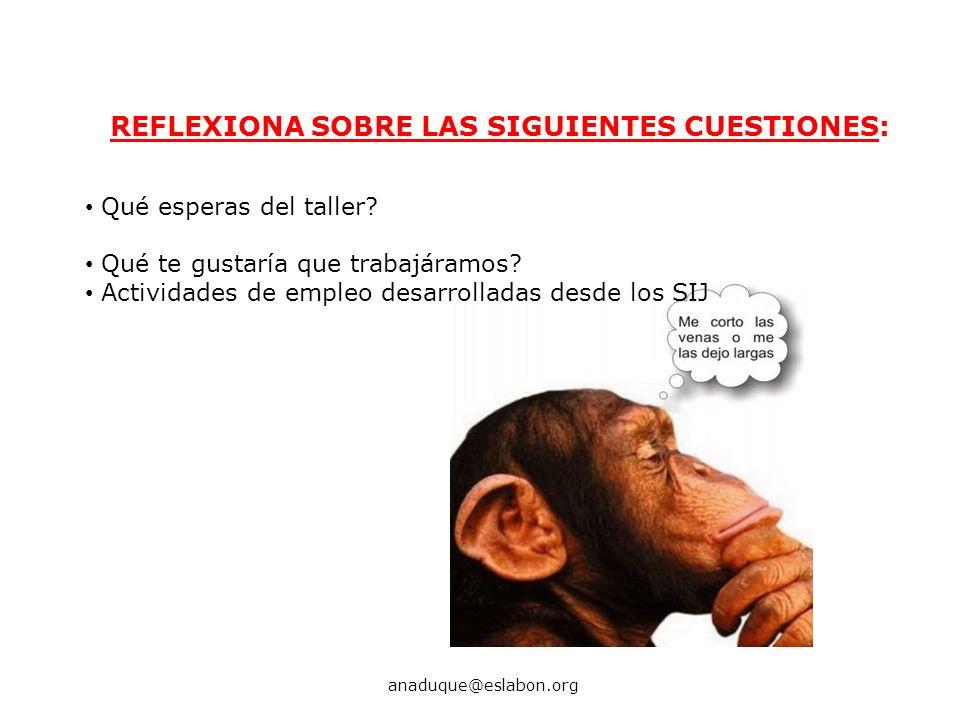 REFLEXIONA SOBRE LAS SIGUIENTES CUESTIONES: