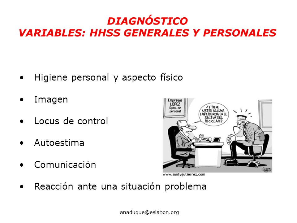 VARIABLES: HHSS GENERALES Y PERSONALES