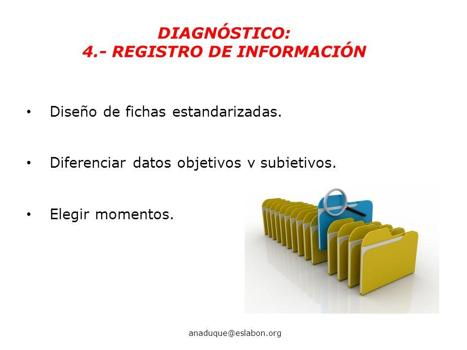 4.- REGISTRO DE INFORMACIÓN