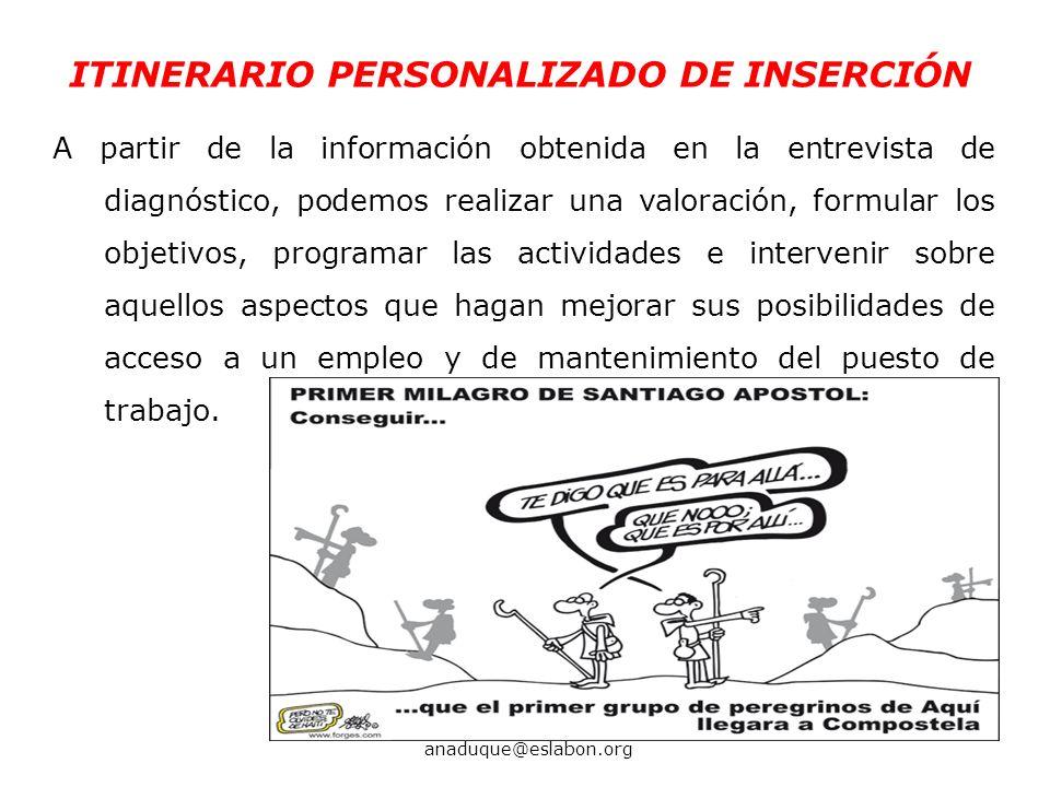 ITINERARIO PERSONALIZADO DE INSERCIÓN