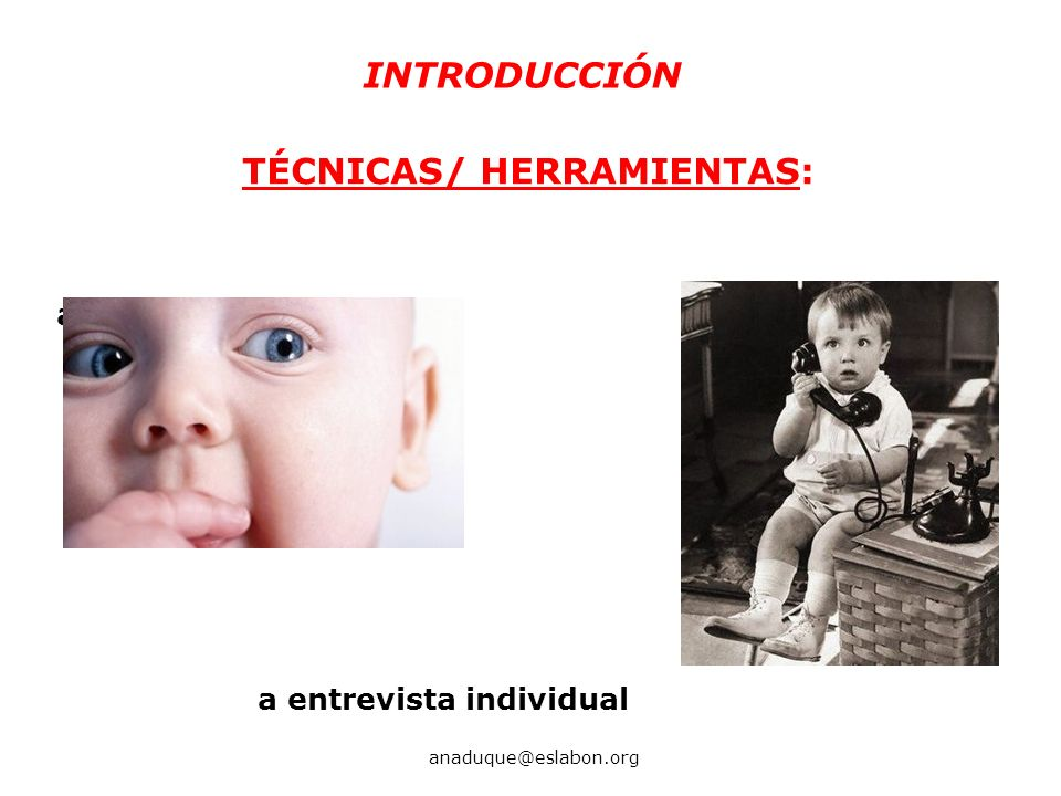 TÉCNICAS/ HERRAMIENTAS: