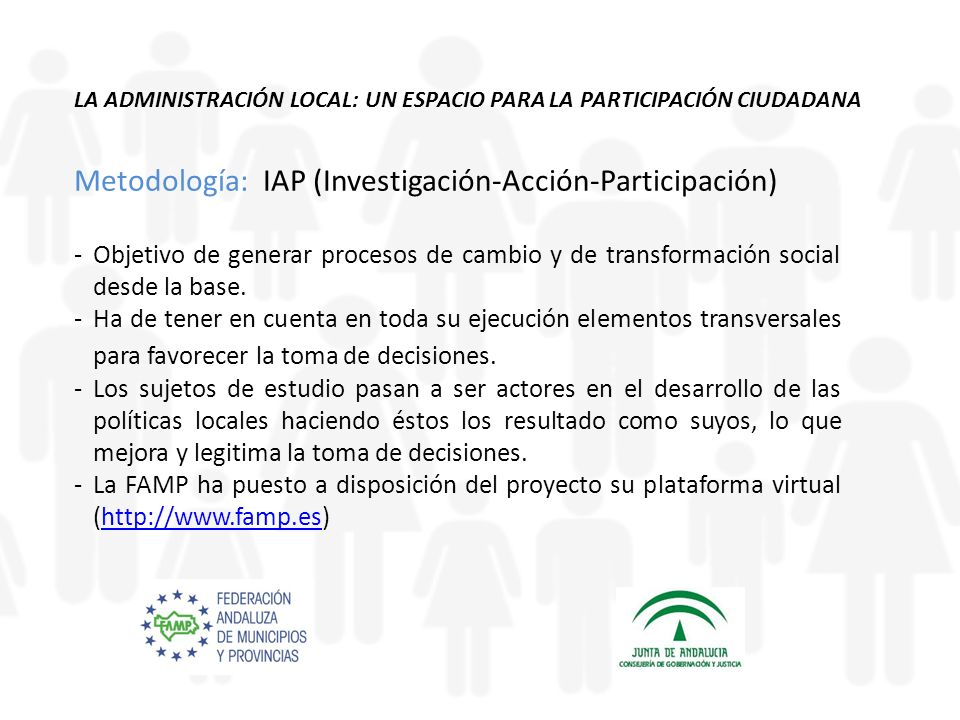 Metodología: IAP (Investigación-Acción-Participación)