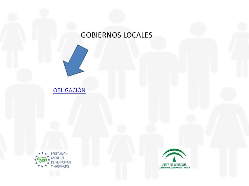 GOBIERNOS LOCALES OBLIGACIÓN