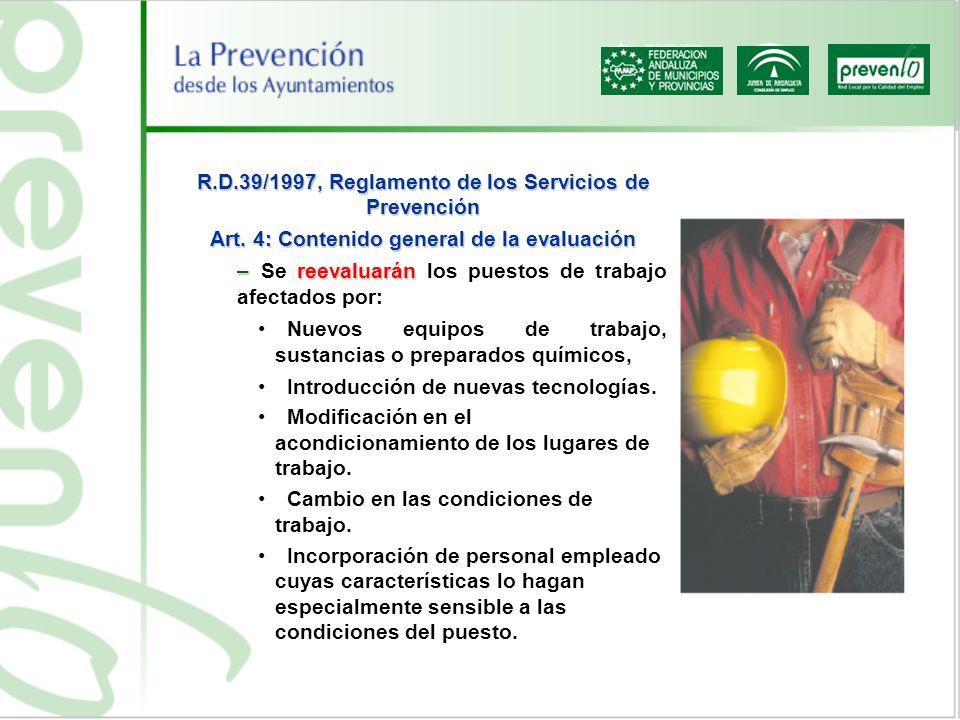 R.D.39/1997, Reglamento de los Servicios de Prevención