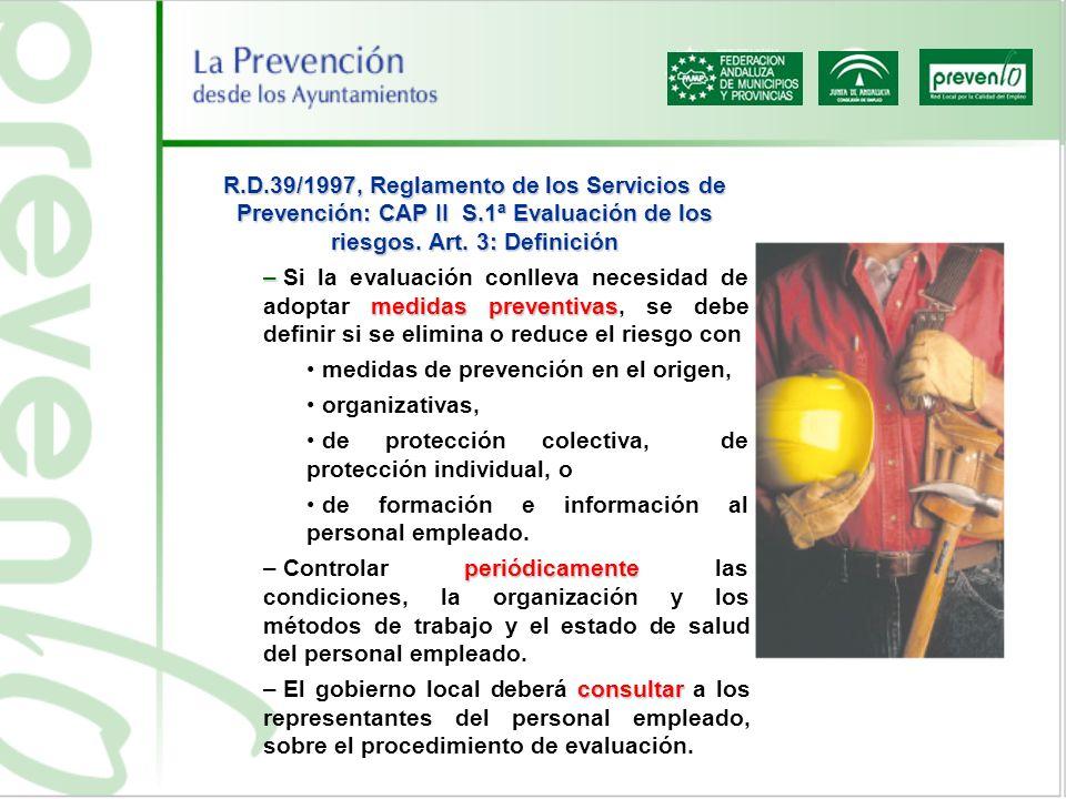 R. D. 39/1997, Reglamento de los Servicios de Prevención: CAP II S