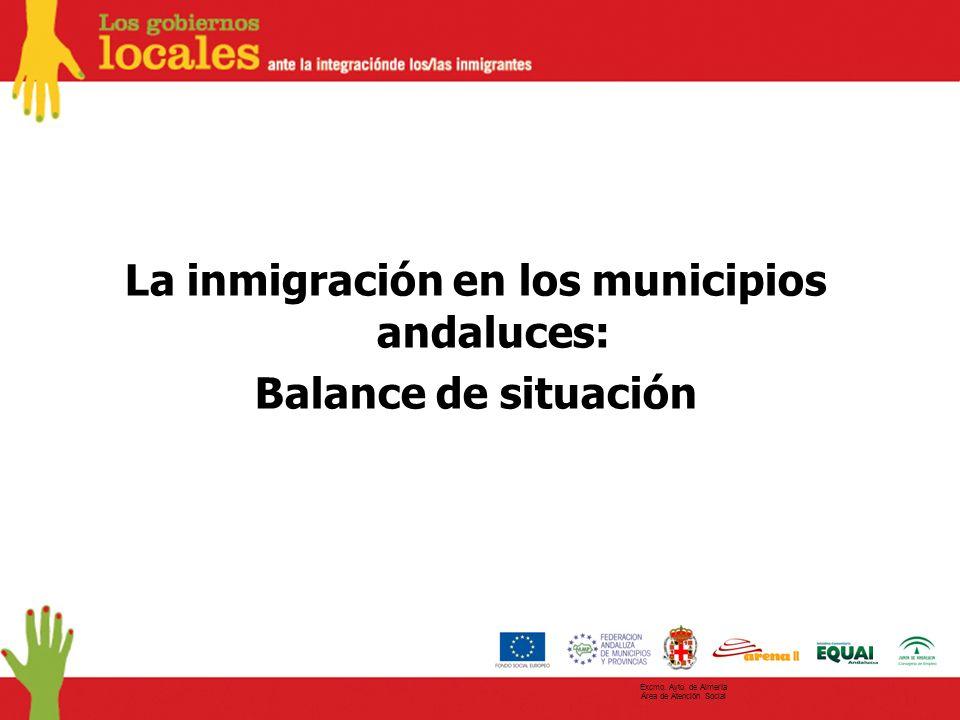 La inmigración en los municipios andaluces: Balance de situación