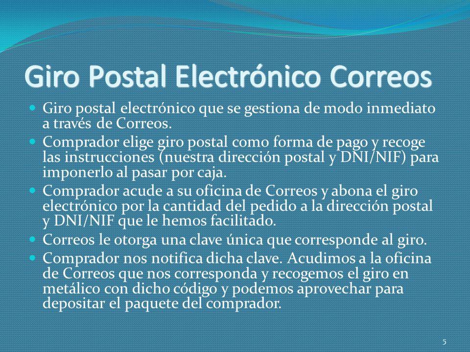 Giro Postal Electrónico Correos