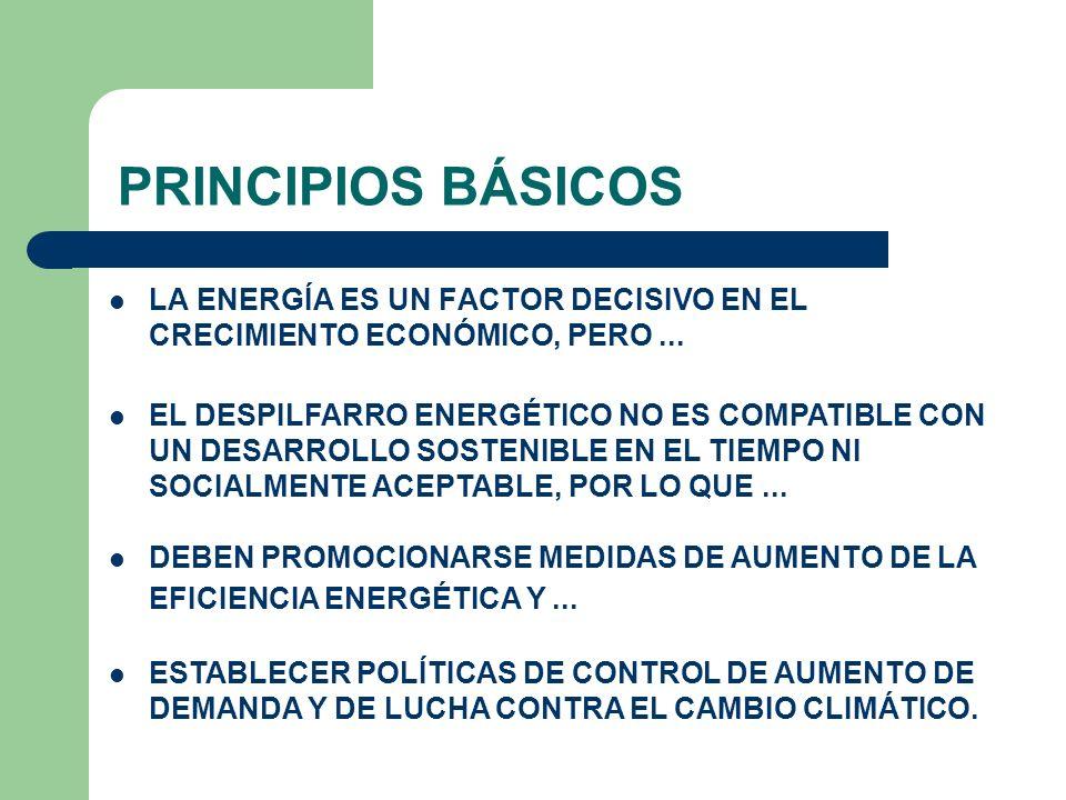 PRINCIPIOS BÁSICOS LA ENERGÍA ES UN FACTOR DECISIVO EN EL CRECIMIENTO ECONÓMICO, PERO ...