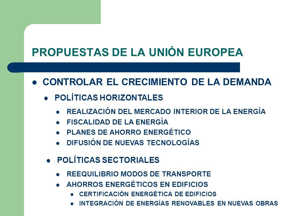 PROPUESTAS DE LA UNIÓN EUROPEA