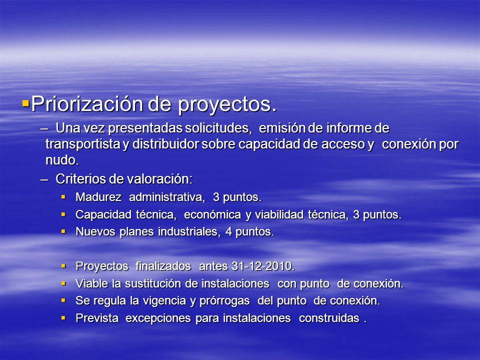 Priorización de proyectos.