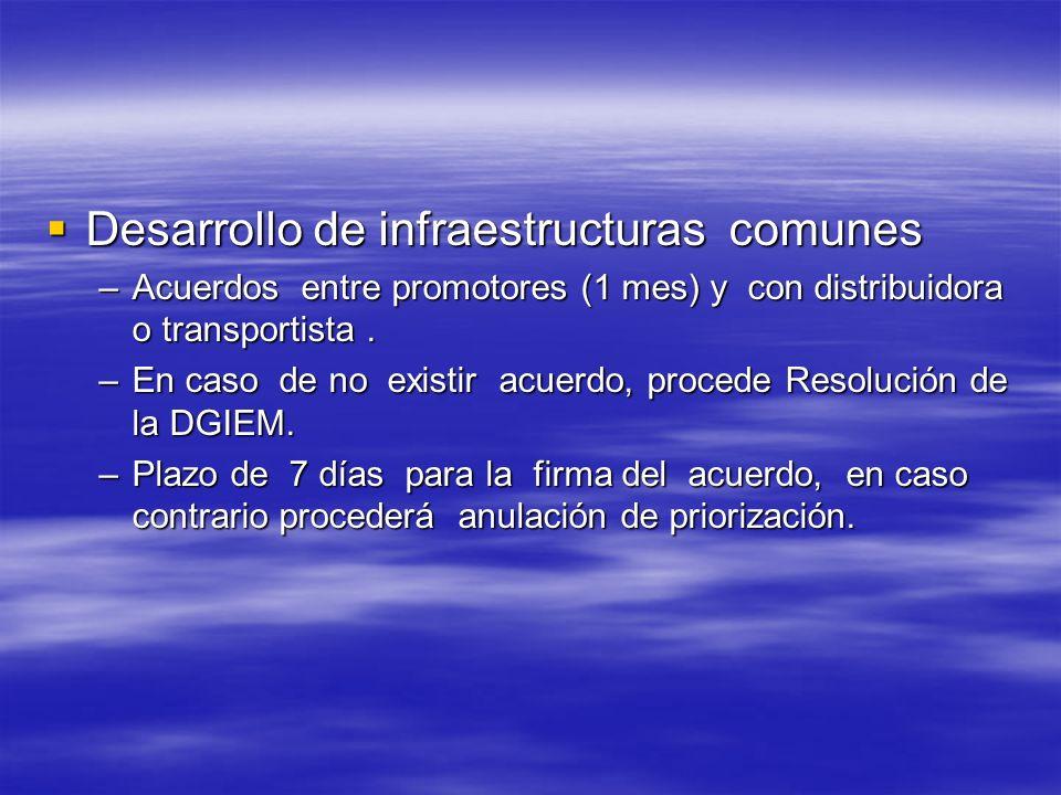 Desarrollo de infraestructuras comunes