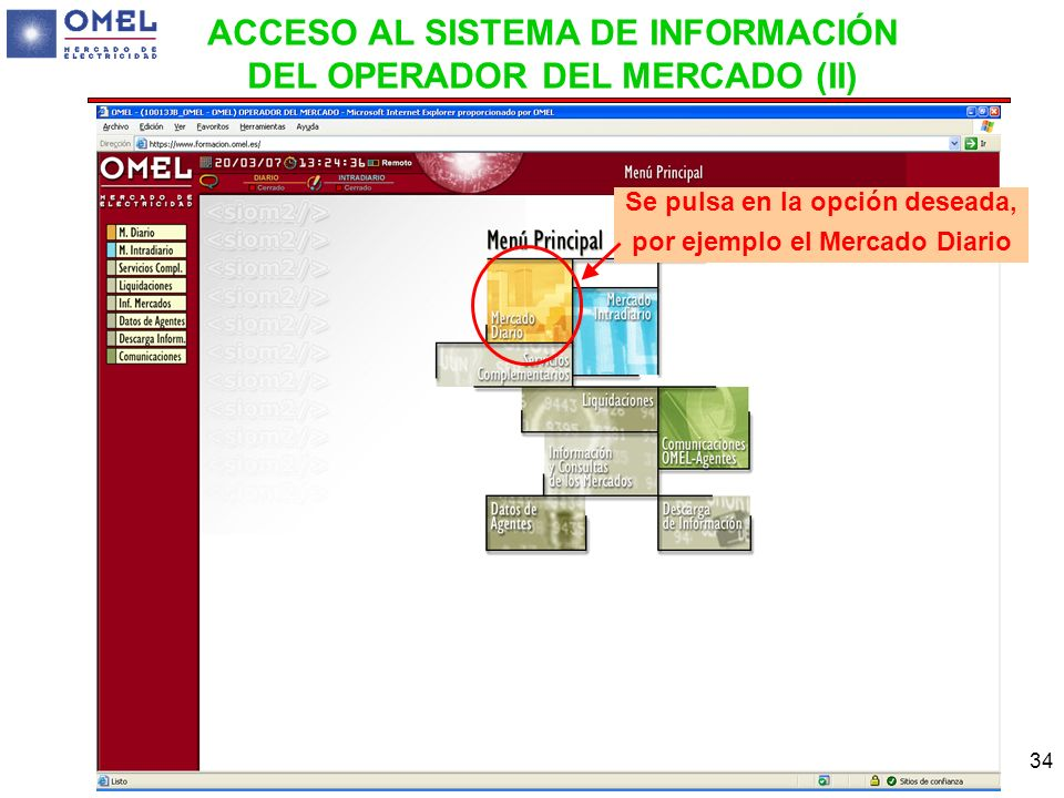 ACCESO AL SISTEMA DE INFORMACIÓN DEL OPERADOR DEL MERCADO (II)
