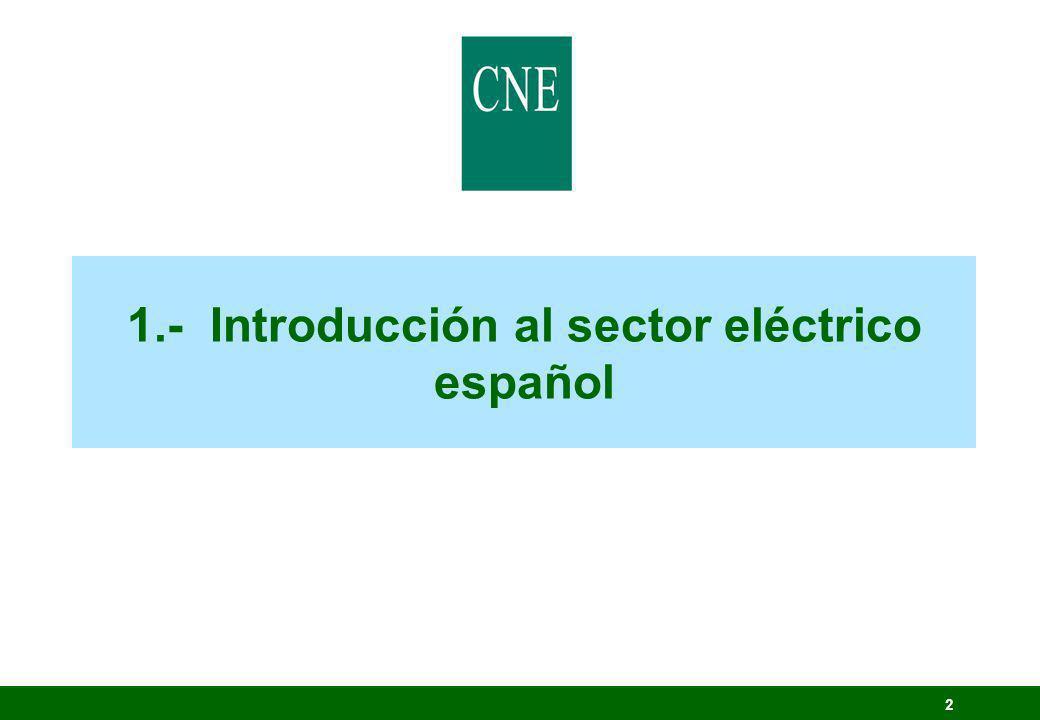 1.- Introducción al sector eléctrico español