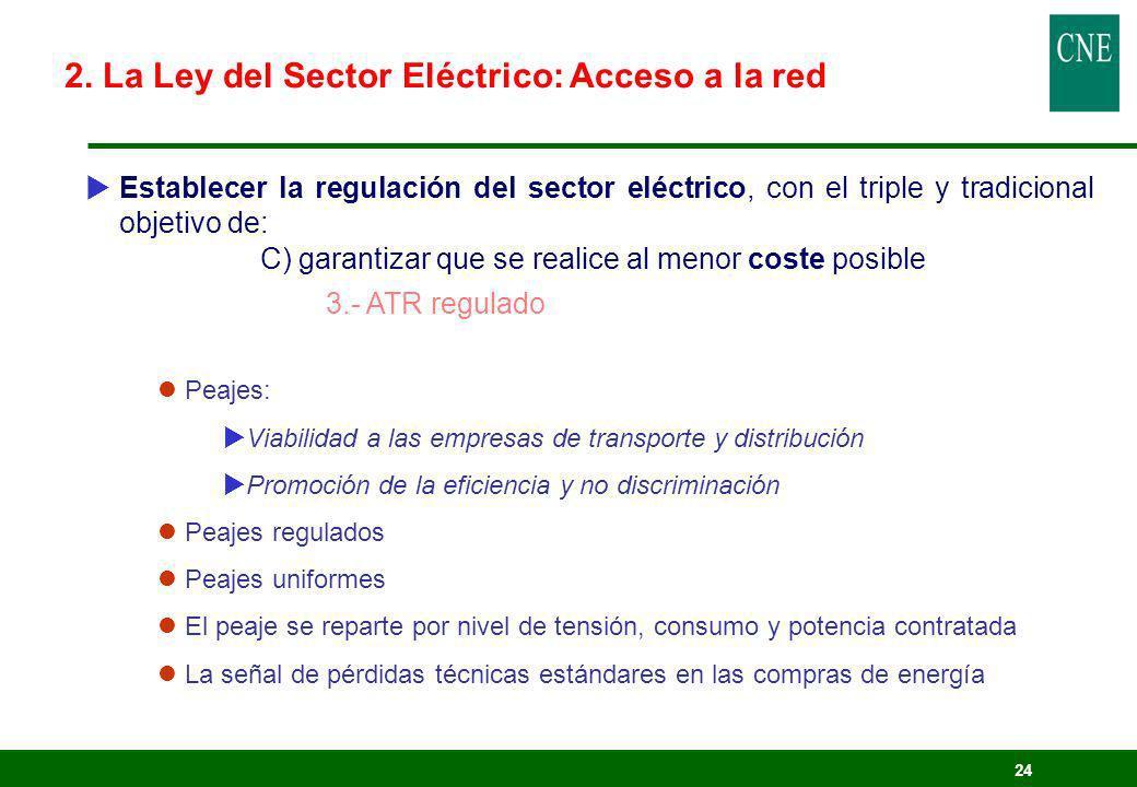 2. La Ley del Sector Eléctrico: Acceso a la red