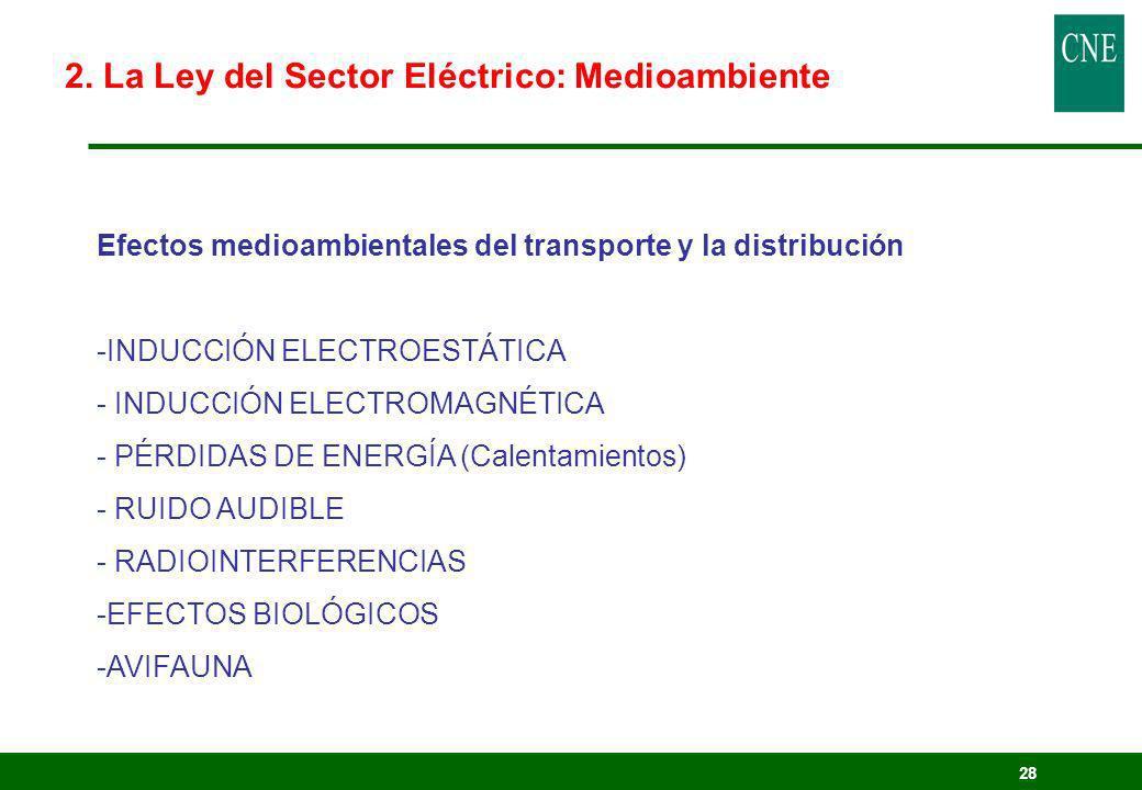 2. La Ley del Sector Eléctrico: Medioambiente