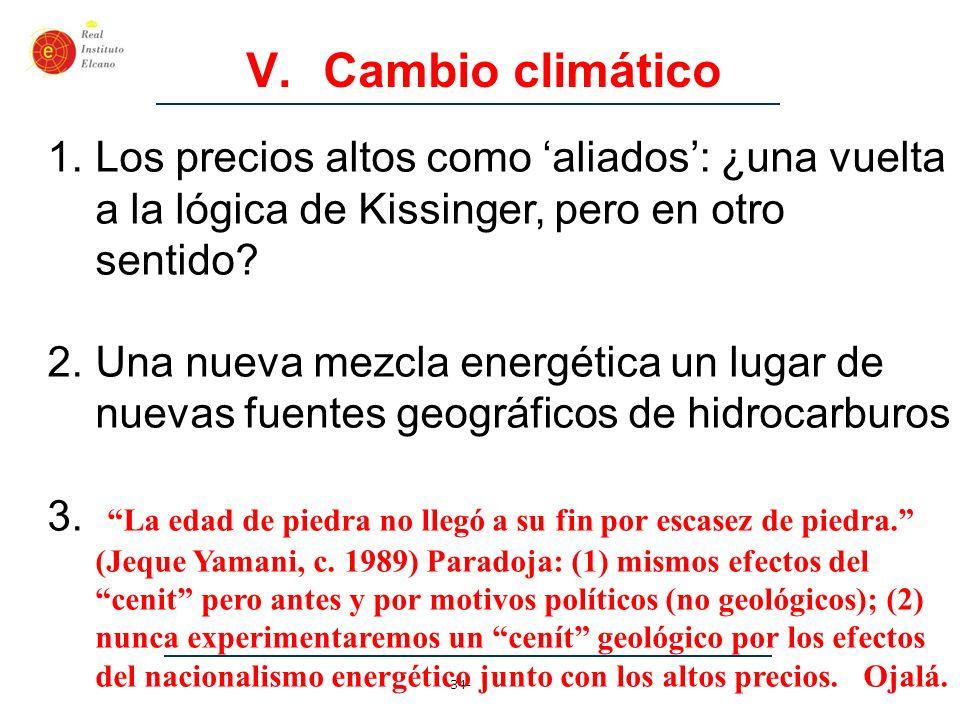 Cambio climático Los precios altos como 'aliados': ¿una vuelta a la lógica de Kissinger, pero en otro sentido