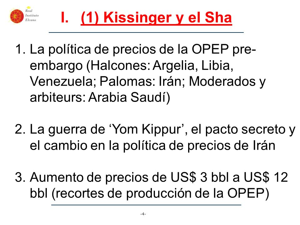 (1) Kissinger y el Sha