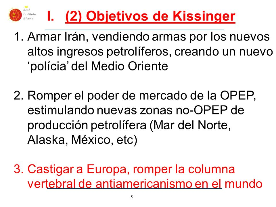 (2) Objetivos de Kissinger