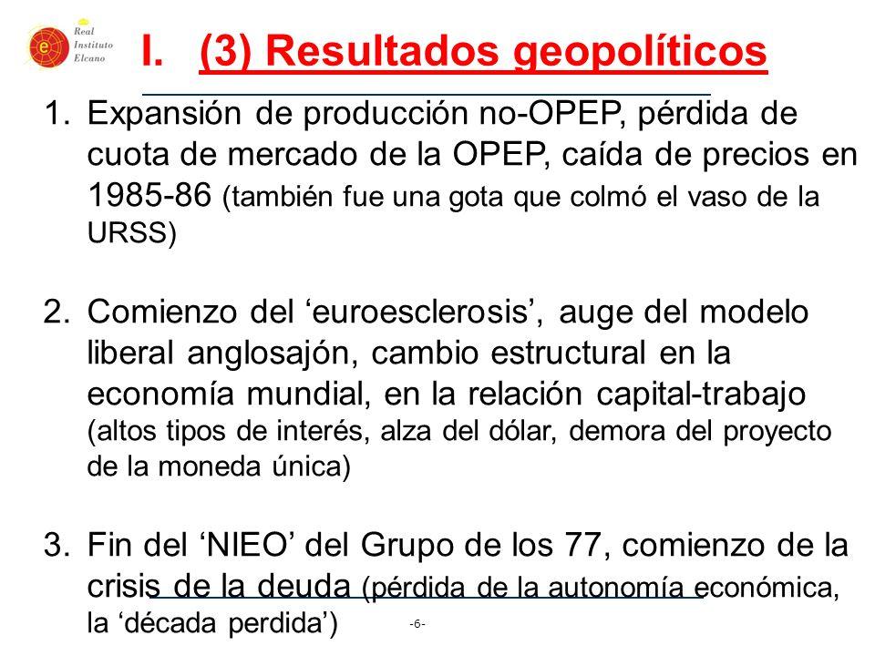 (3) Resultados geopolíticos