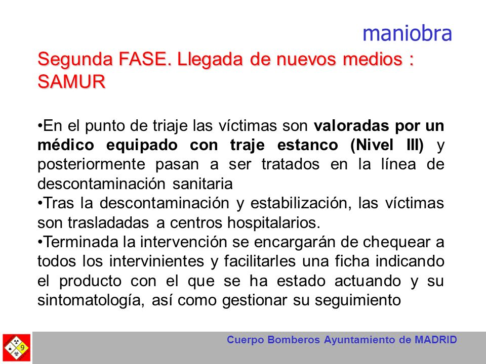 Cuerpo Bomberos Ayuntamiento de MADRID