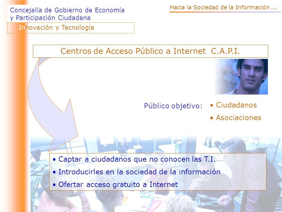 Centros de Acceso Público a Internet C.A.P.I.