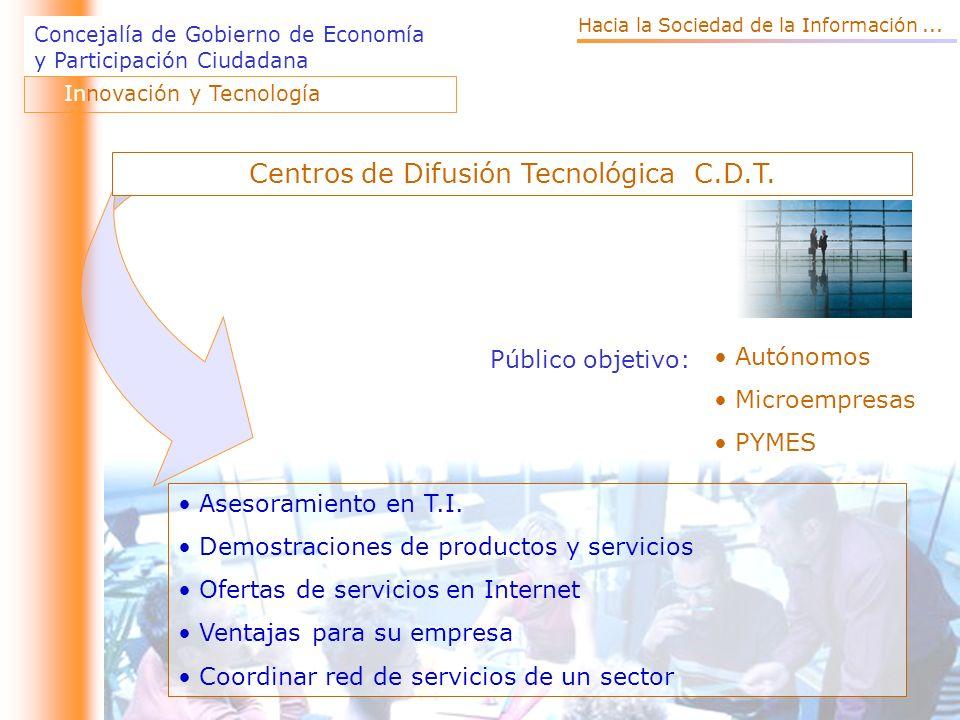 Centros de Difusión Tecnológica C.D.T.