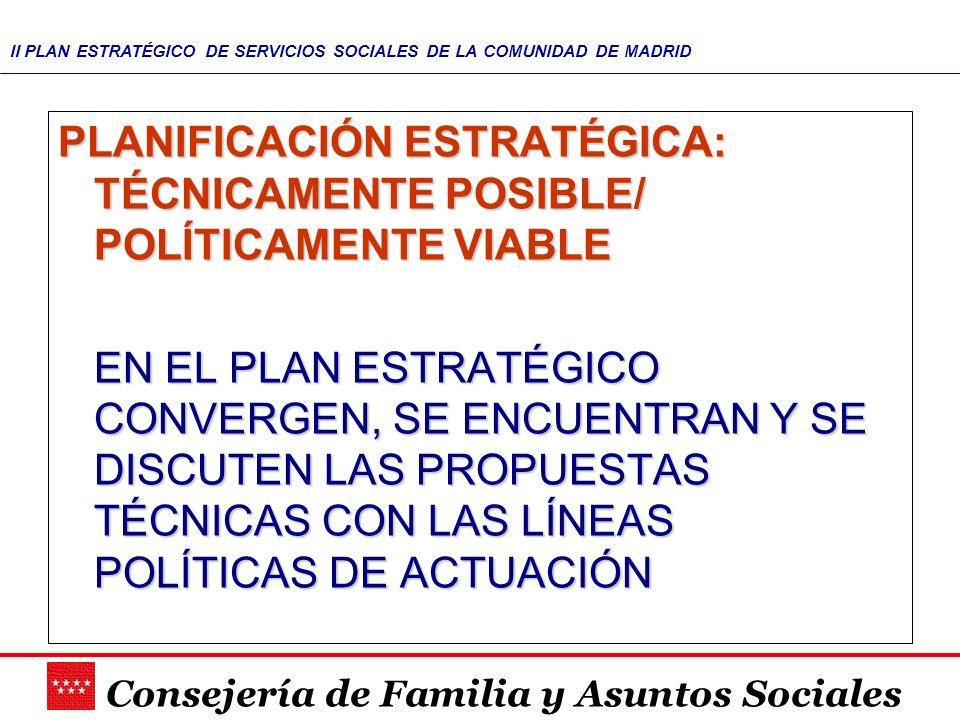 PLANIFICACIÓN ESTRATÉGICA: TÉCNICAMENTE POSIBLE/ POLÍTICAMENTE VIABLE