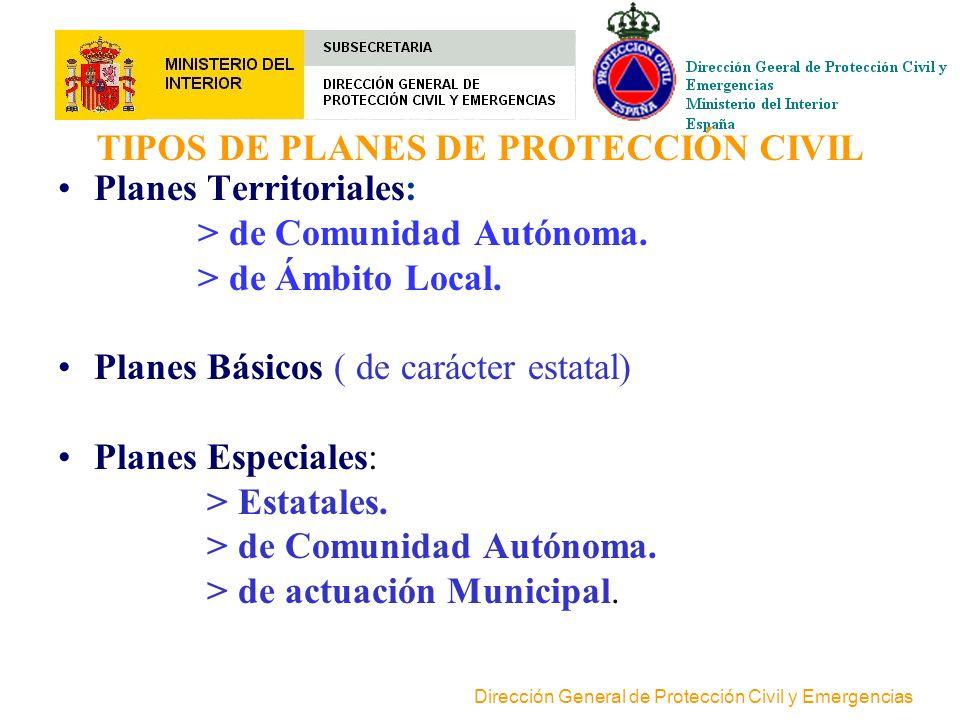 TIPOS DE PLANES DE PROTECCIÓN CIVIL