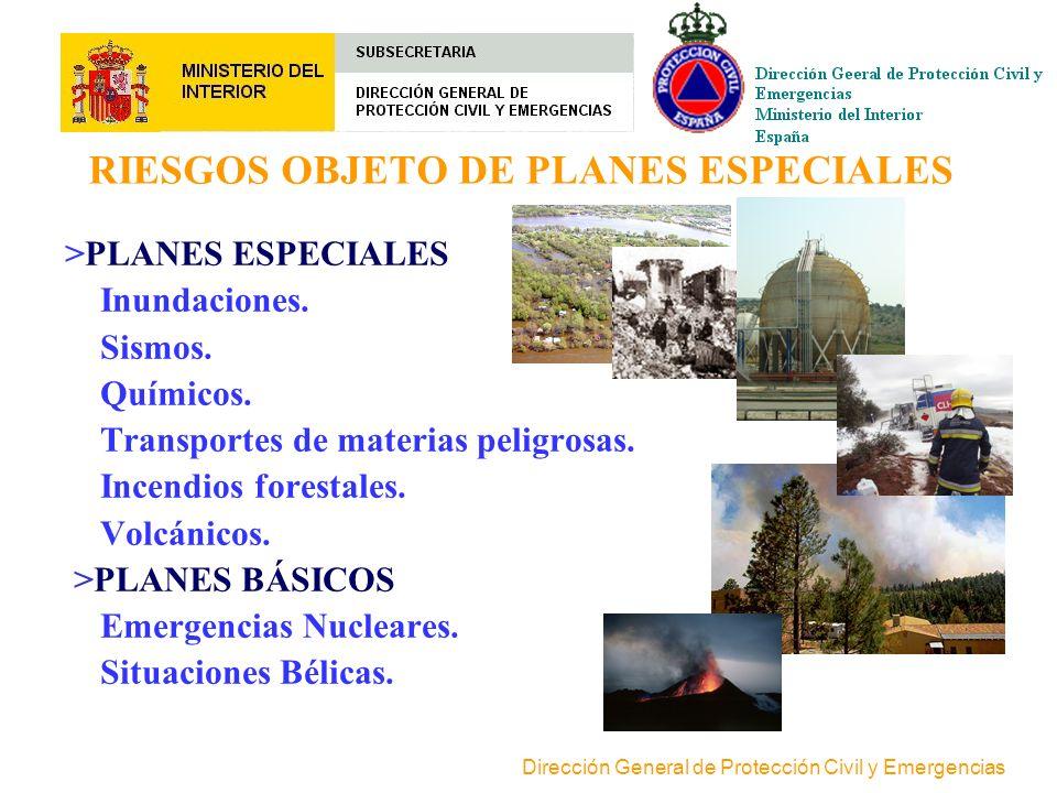 RIESGOS OBJETO DE PLANES ESPECIALES