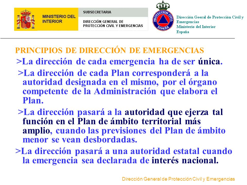 PRINCIPIOS DE DIRECCIÓN DE EMERGENCIAS