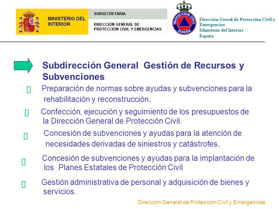 Subdirección General Gestión de Recursos y Subvenciones