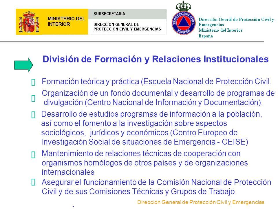 División de Formación y Relaciones Institucionales