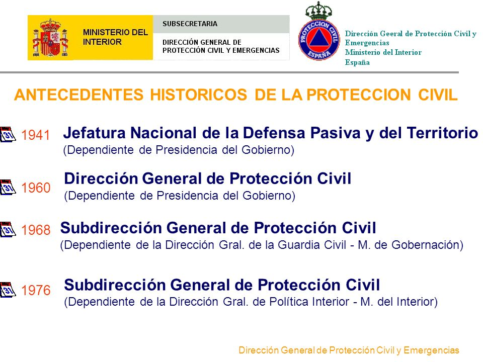 ANTECEDENTES HISTORICOS DE LA PROTECCION CIVIL