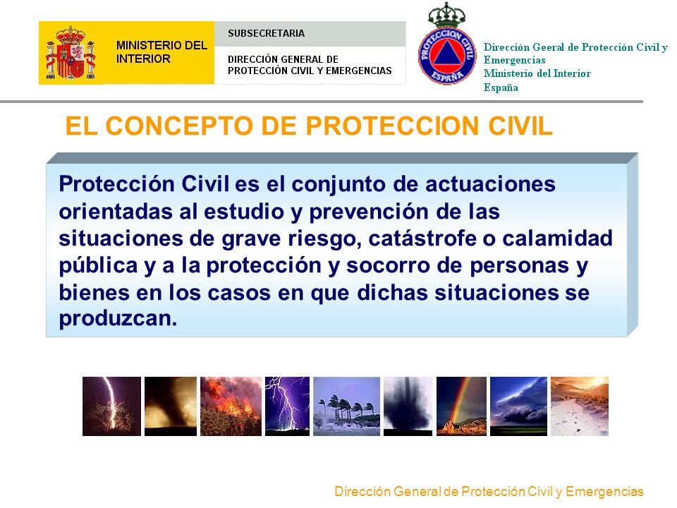 EL CONCEPTO DE PROTECCION CIVIL