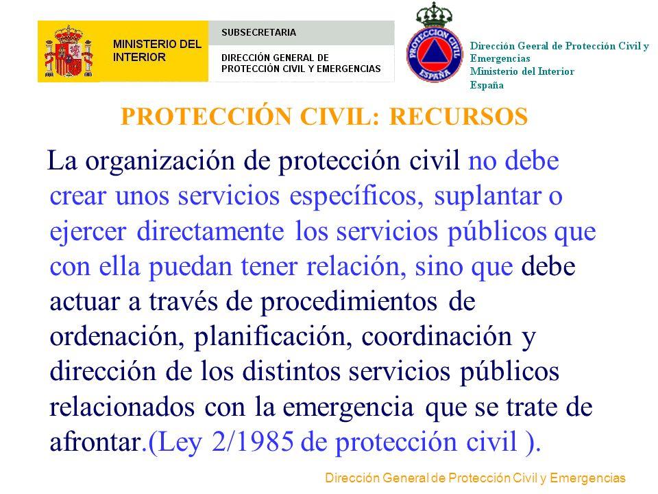 PROTECCIÓN CIVIL: RECURSOS