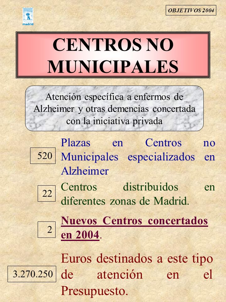 CENTROS NO MUNICIPALES