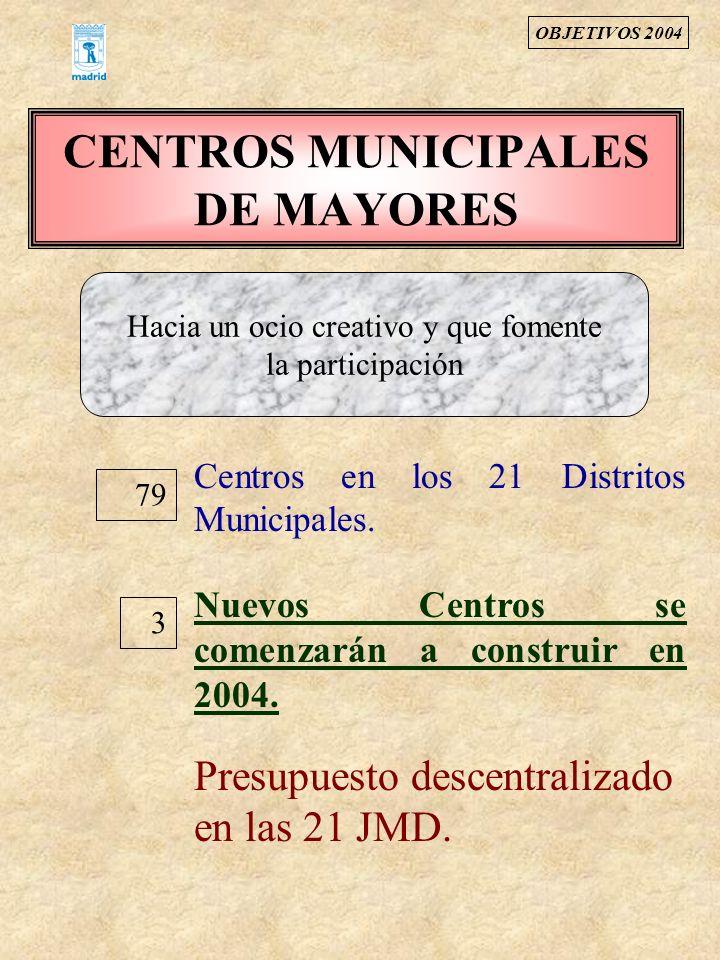 CENTROS MUNICIPALES DE MAYORES