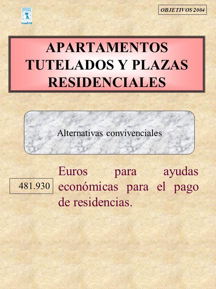 APARTAMENTOS TUTELADOS Y PLAZAS RESIDENCIALES