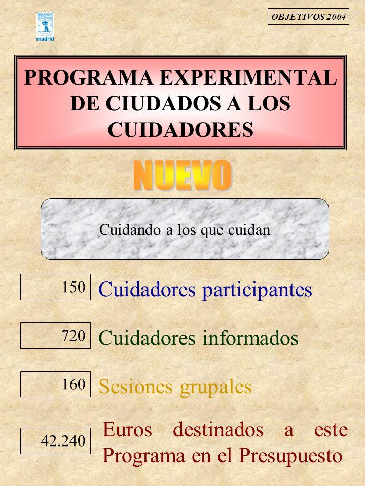 PROGRAMA EXPERIMENTAL DE CIUDADOS A LOS CUIDADORES