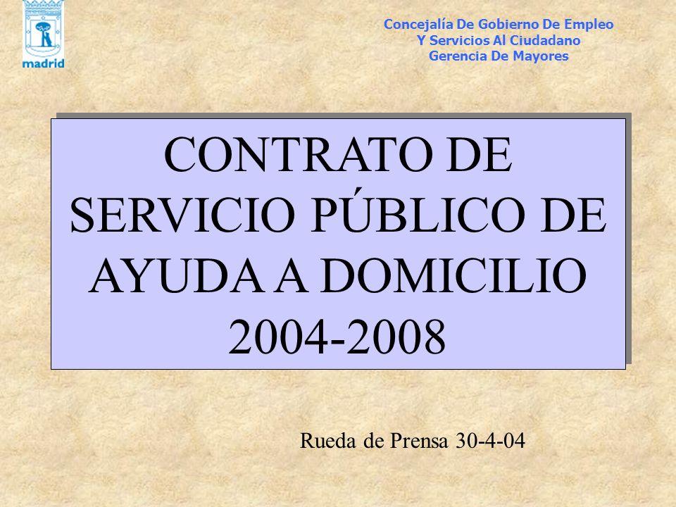 CONTRATO DE SERVICIO PÚBLICO DE AYUDA A DOMICILIO 2004-2008