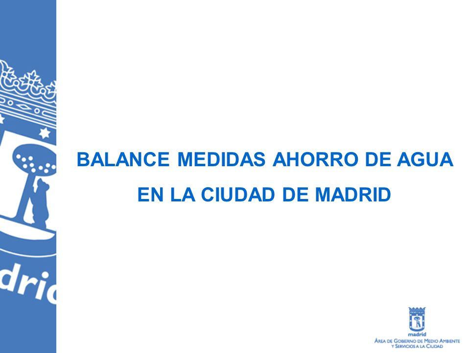 BALANCE MEDIDAS AHORRO DE AGUA