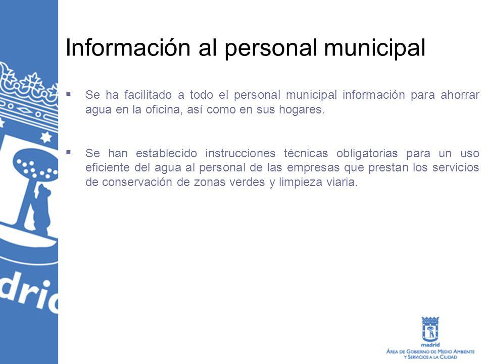 Información al personal municipal
