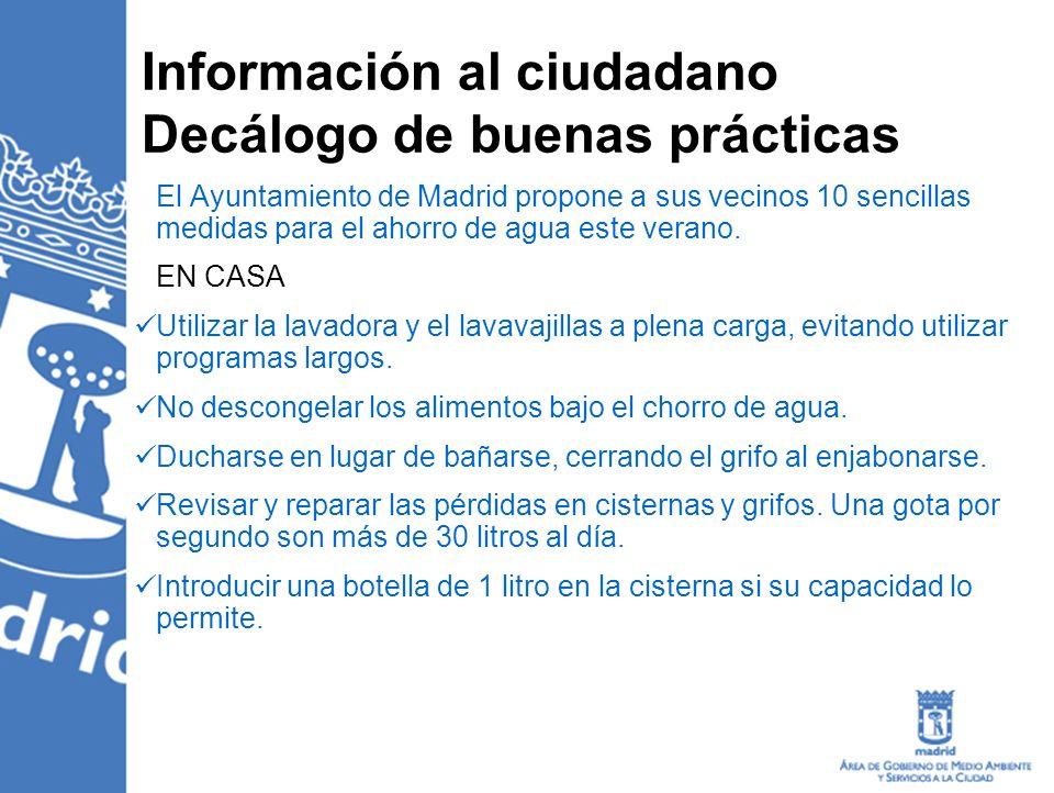 Información al ciudadano Decálogo de buenas prácticas
