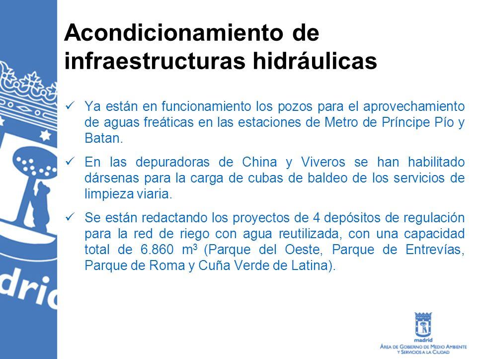 Acondicionamiento de infraestructuras hidráulicas